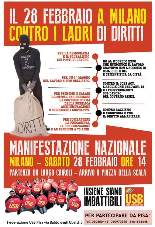 28 Manifestazione Pisa Milano