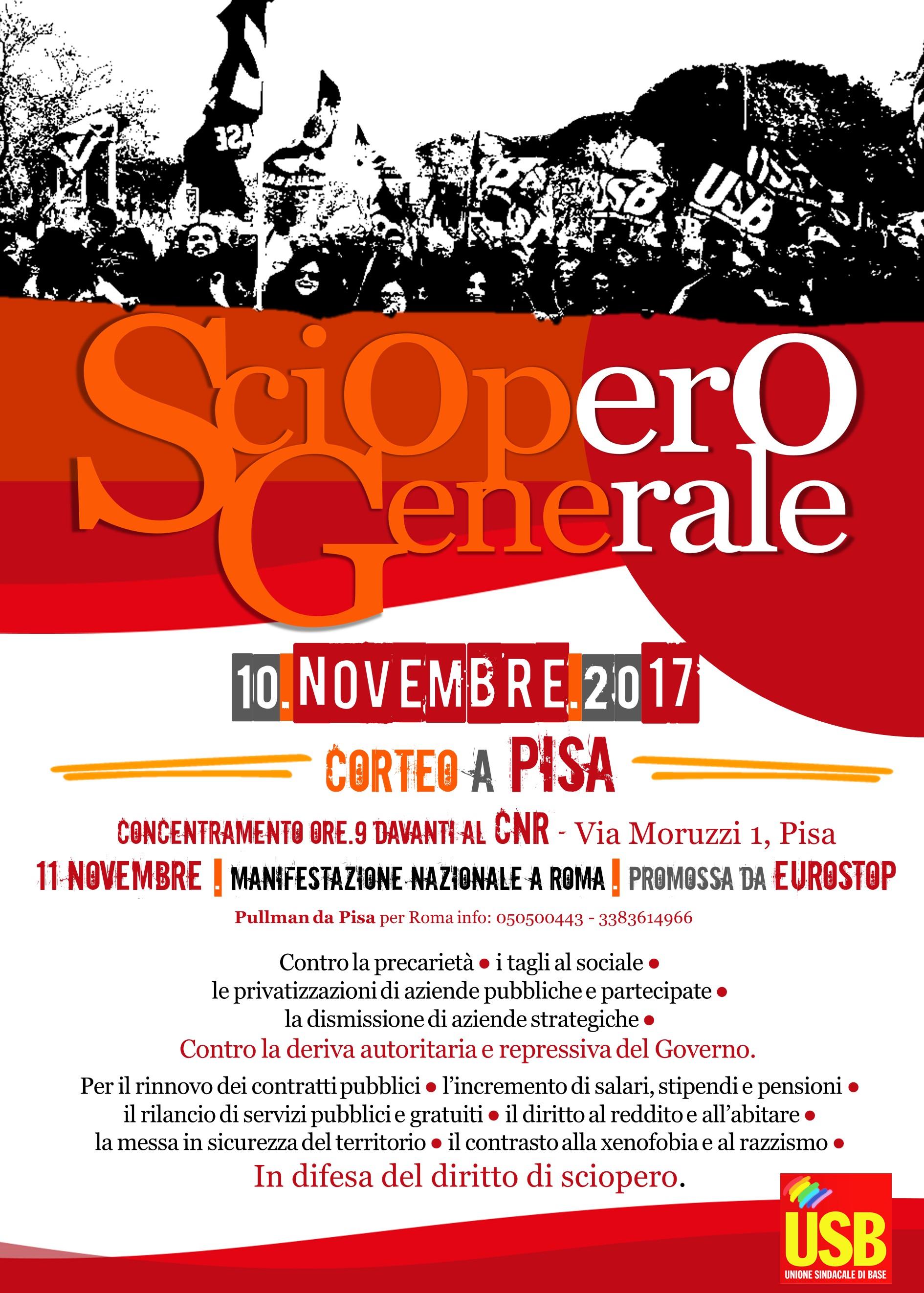 sciopero generalePISAconcentramentoDEF